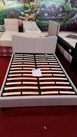 brand new curve natural fabric double bed