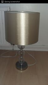 Gold and Glass Ball Table Lamp