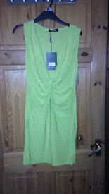 Lime green Brand new w/tags missguided dress, size 12