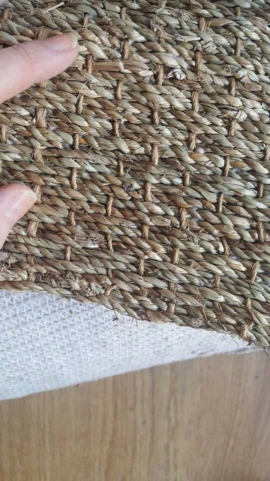 Large sisal carpet off-cuts