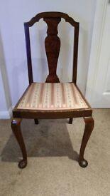 1930's Vintage Walnut Chair