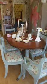 Elegant table and chairs reloved shabby chic