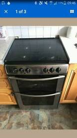 Belling gas hob and electric oven