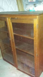 Antique timber China Cabinet Rutherford Maitland Area Preview