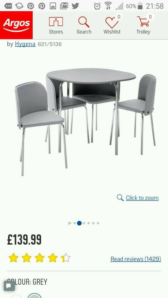 Grey E Saving Table And Chairs