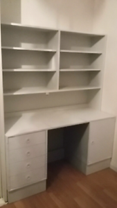 Single bed and desk with shelves Doveton Casey Area Preview