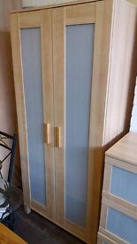 Wardrobe and matching drawer set