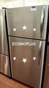 ECONOPLUS ENTREPOT LIQUIDATION SUPERBE FRIGO INOX FRIGIDAIRE TAXES INCLUSES