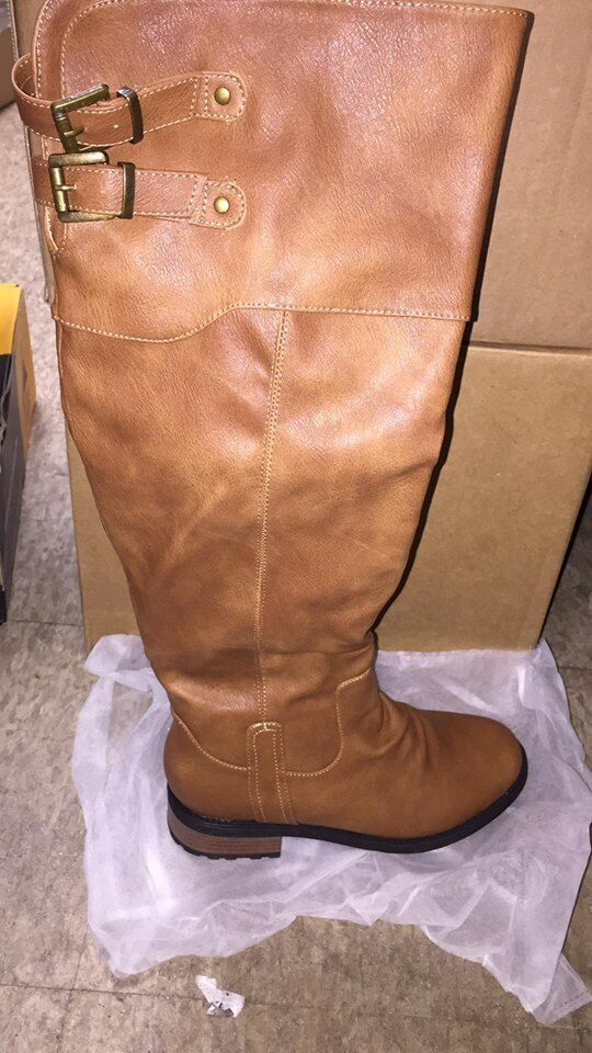 DREAM PAIRS Women's Knee High and up Riding Boots-7.5 US