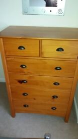 Next bedroom drawers with matching bedside drawers