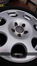 "16"" Audi / Volkswagen alloy wheels with Goodyear tyres"