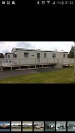 3 bedroom caravan for hire, central heating, double glazing and full deck.