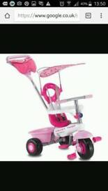 Smart Trike Fresh 3 in 1 Tricycle Ride-on Stroller - Pink White