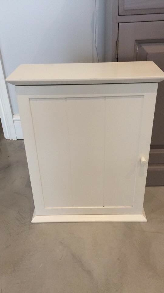 John Lewis A White Wooden Bathroom Wall Cabinet