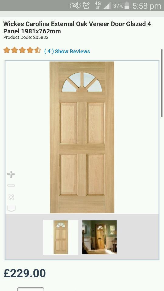 Brand New Wickes Carolina External Door In Forest Hill London