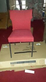 designer dutch pulli red fabric dining chair brand new