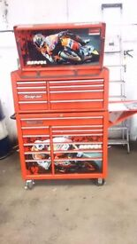 Repsol honda snap on tool box in red. Good condition