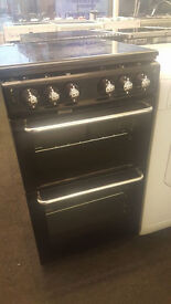 J183 newworld 50cm black gas cooker comes with warranty can be delivered or collected