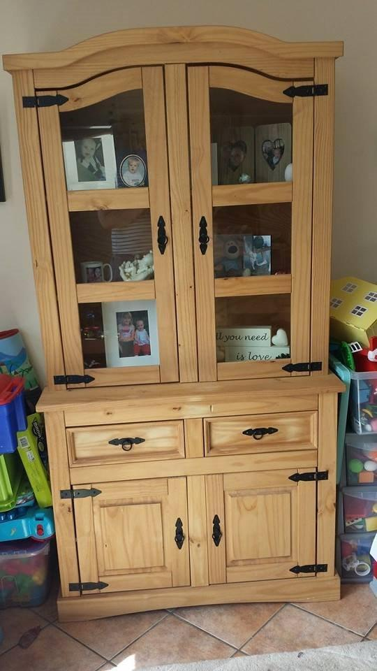 Mexican Pine Corona Wall Unit Welsh Dresser Great
