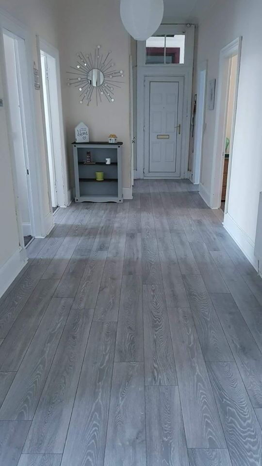 8mm Laminate Flooring Greycharcoal Ac4 Commercial Grade 20m2 Fully