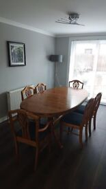 Dining Table and 6 Chairs. Cost £2,800 when new, quality piece of furniture.