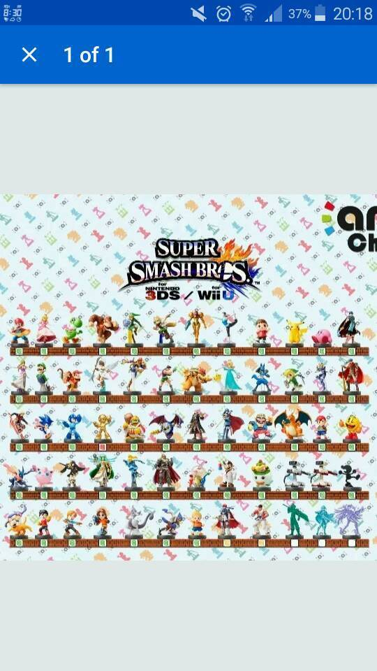 Nintendo Amiibo Collection Smash Brothers Switch 3DS