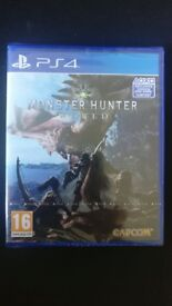 Brand new, sealed Monster Hunter World for the PS4