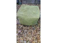 GREEN BEAN BAG / FOOT STOOL – W46 X D46 X H26CM - £8