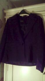 Ladies size 18 black pinstripe jacket