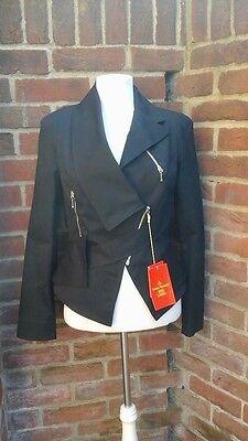 Lovely Vivienne Westwood Red Label Black Biker Jacket - BNWT (£425) usato  Spedire a Italy