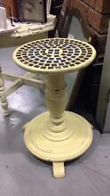 BESPOKE UPCYCCLED TIMBER & MOSAIC PEDESTAL PLANTER TABLE Burwood Burwood Area Preview