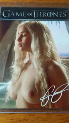 Daenerys Targaryen Emilia Clarke Signed  Khaleesi Game Of Thrones Card Xxx 5 25