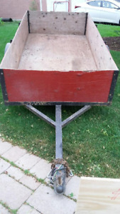 "Box Trailer. 4x8 by 24"" high. Excellent condition. 1-7/8 hitch."