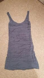 Topshop Grey ladies dress size 6