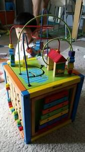 Wooden activitiy Cube Burwood Burwood Area Preview