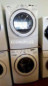 ECONOPLUS LIQUIDATION ENSEMBLE LAVEUSE SECHEUSE WHIRLPOOL DUET EMPILABLE