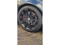"BMW MV2 alloys 18"" staggered genuine alloys E46"