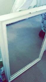 LARGE WHITE FRAME MIRROR
