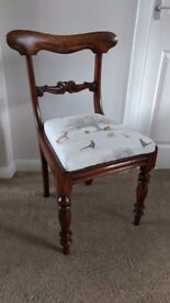 Antique Victorian Chair - Newly Reupholstered.