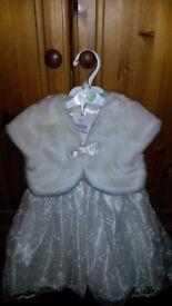 Toddler Flower girl dress 18-24 months plus accessories