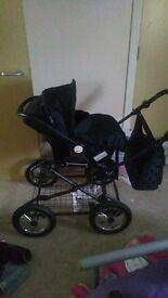 Babystyle mini black spot pram
