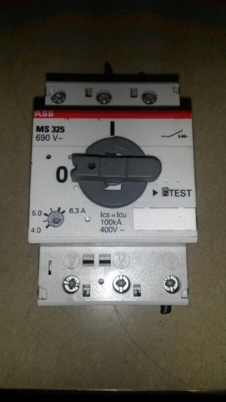 ABB MS 325 4.0-6.3A MOTOR STARTER 690V MAX