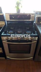 ECONOPLUS LIQUIDATION CUSINIERE LG INOX AU GAS TAXES INCLUSES