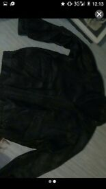 Real leather jacket mens large