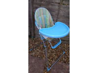 PETITE STAR HIGHCHAIR – HAS A FEW MARKS BUT STILL IN GOOD CONDITION - £10