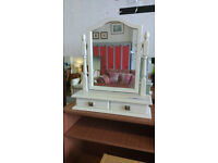 White Dressing Table Mirror (delivery available)