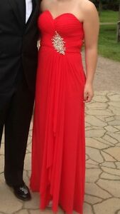 Beautiful casual red prom dress