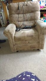 3 seater and Riser Recliner