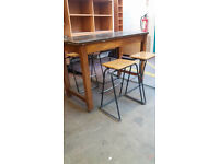 Rectangular table with 4 stools (delivery available)