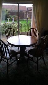 Mahogany dining set.